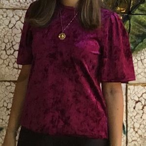 Tops - Velvet top perfect for holidays